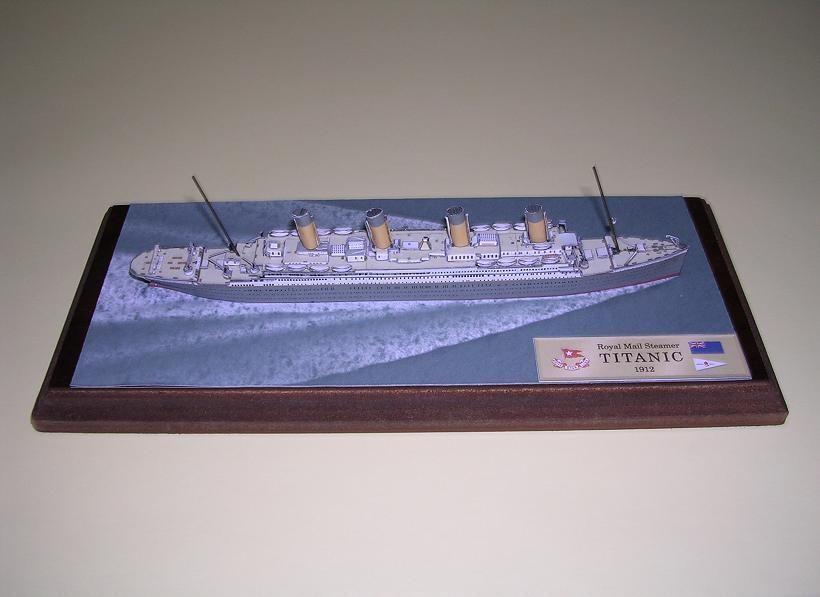 титаник модель из бумаги