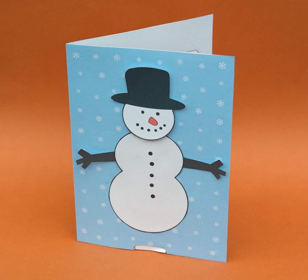 Открытка своими руками снеговик, анимационная открытка