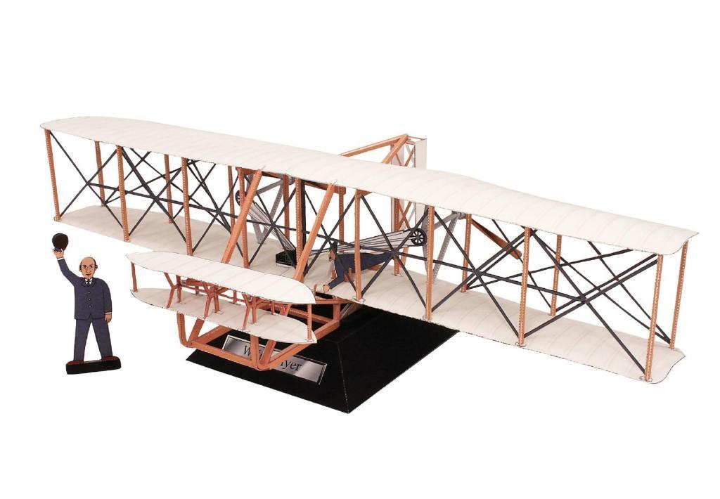 модель самолета бртьев райт свою