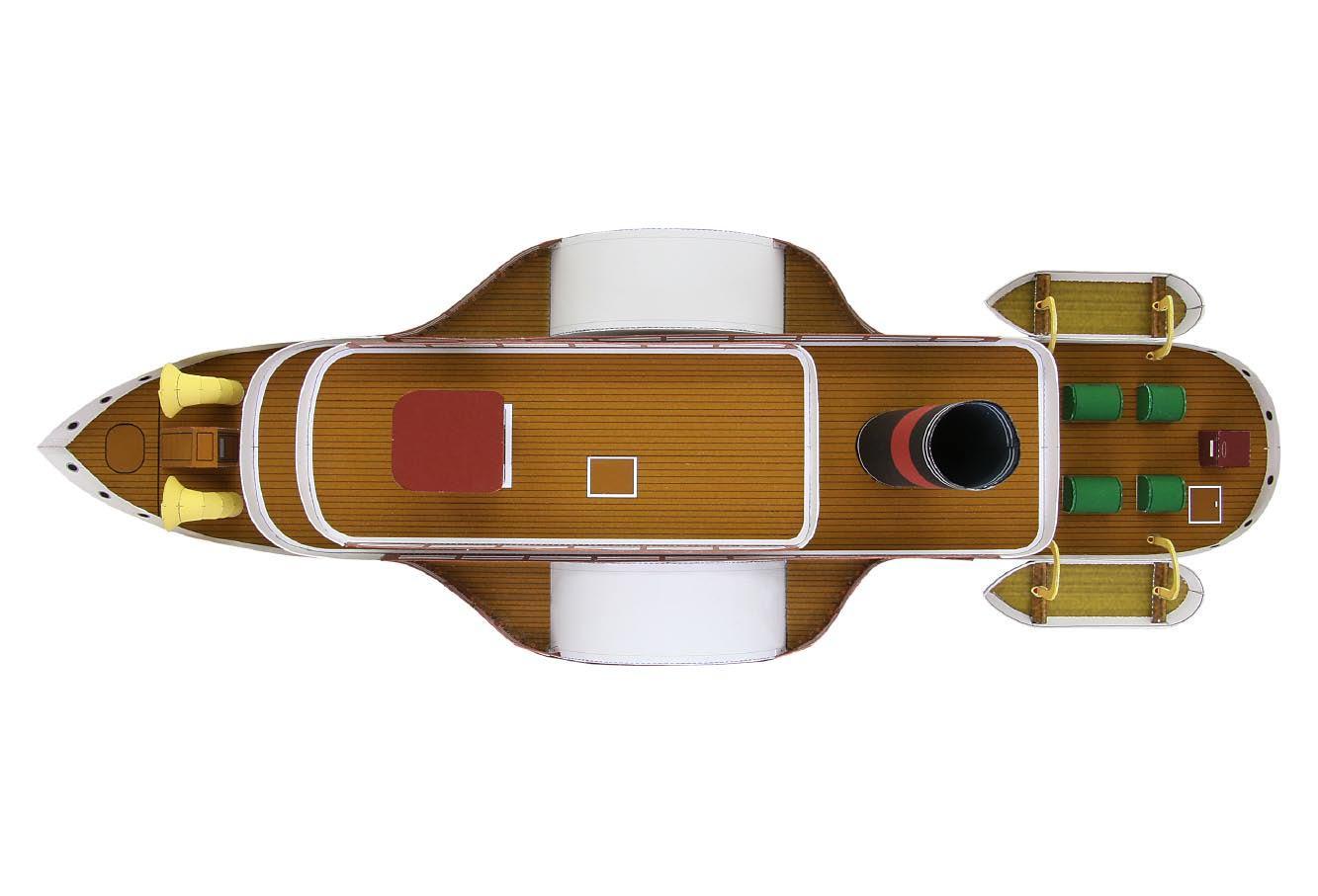 Колесный пароход своими руками из