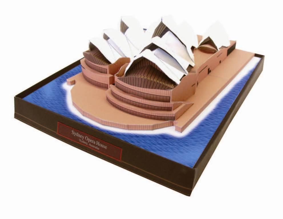 Бумажная модель Сиднейский Оперный Театр, Австралия :: Бумажные модели журналы по моделированию бесплатно, без регистрации и смс