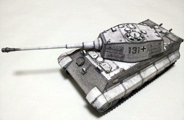 Бумажная модель Танк