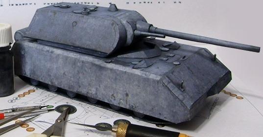 Бумажная модель Танк Маус